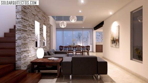 Gema renders soloarquitectos com for Salas con escaleras